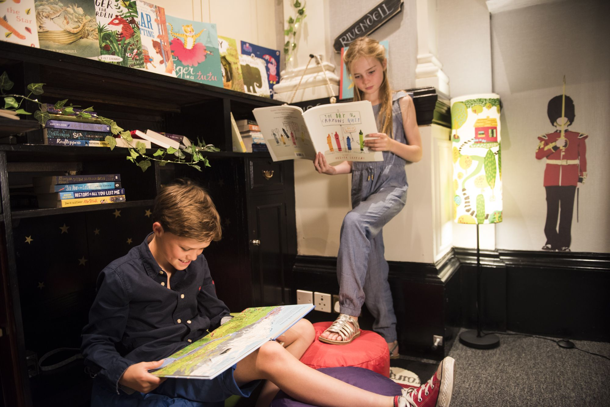 Kids book den in partnership with Waterstones